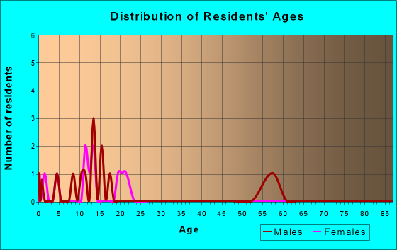 Age and Sex of Residents in zip code 63738