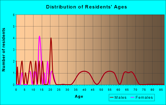 Age and Sex of Residents in zip code 63860