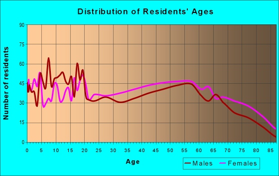 Age and Sex of Residents in zip code 63863
