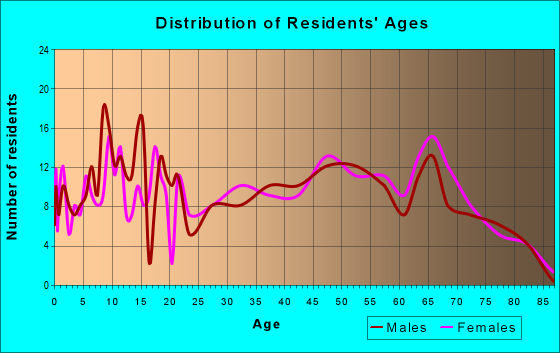 Age and Sex of Residents in zip code 63953