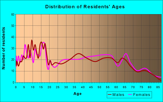 Age and Sex of Residents in zip code 64862
