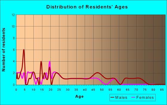 Age and Sex of Residents in zip code 67667