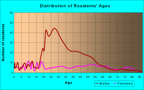 Age and Sex of Residents in zip code 71340