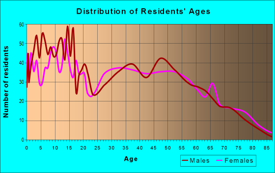 Age and Sex of Residents in zip code 71837