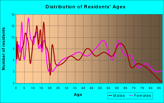 Age and Sex of Residents in zip code 73663