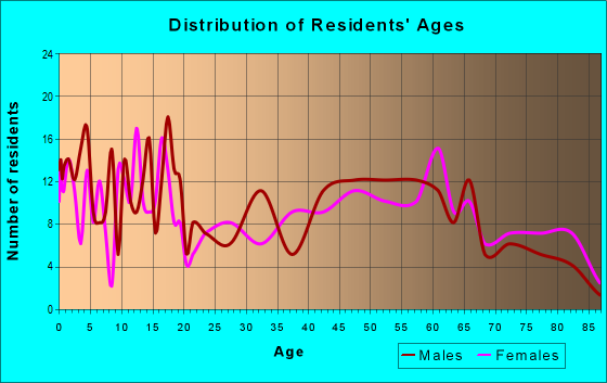 Age and Sex of Residents in zip code 73763