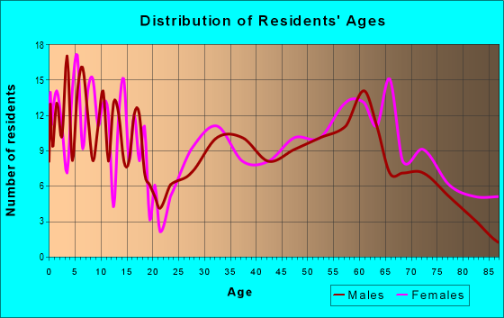 Age and Sex of Residents in zip code 73858