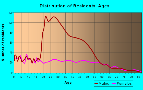 Age and Sex of Residents in zip code 75141