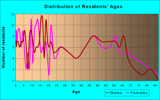 Age and Sex of Residents in zip code 75937