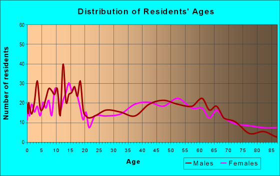 Age and Sex of Residents in zip code 76252