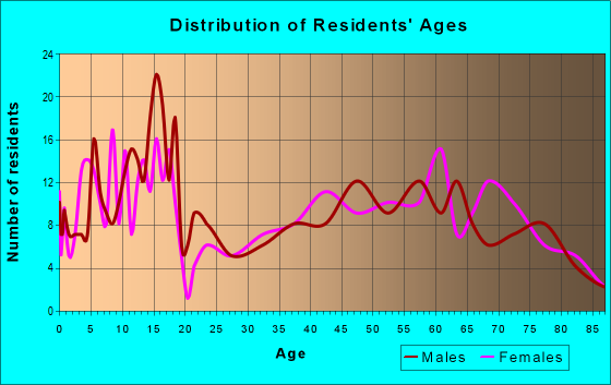 Age and Sex of Residents in zip code 76853