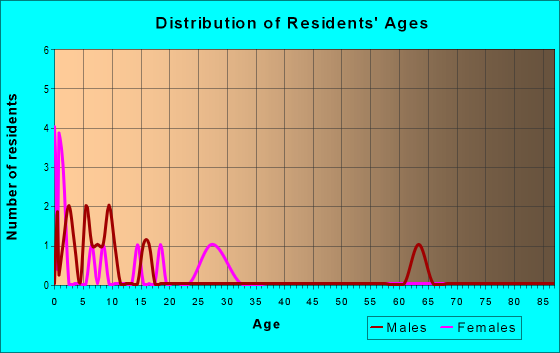 Age and Sex of Residents in zip code 77451