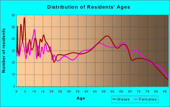 Age and Sex of Residents in zip code 77856