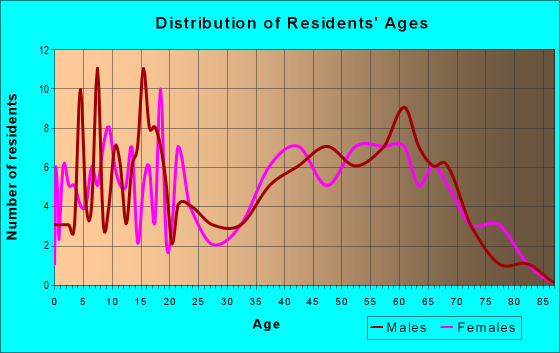Age and Sex of Residents in zip code 78057