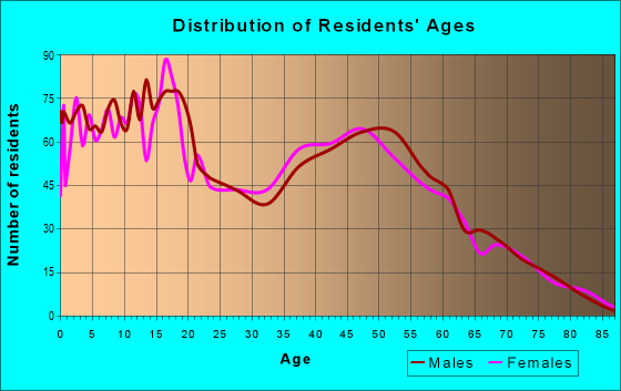 Age and Sex of Residents in zip code 78112
