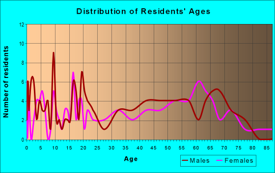 Age and Sex of Residents in zip code 78141