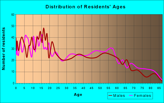 Age and Sex of Residents in zip code 78569
