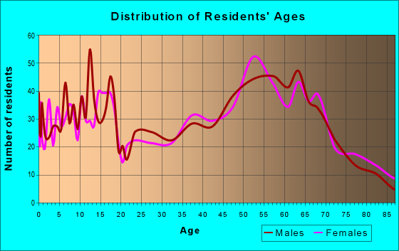 Age and Sex of Residents in zip code 78606