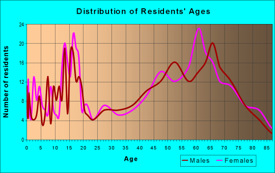 Age and Sex of Residents in zip code 78873