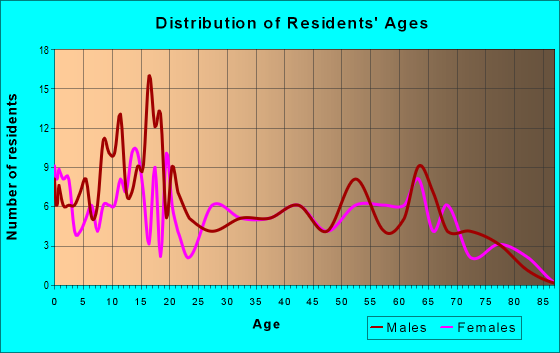 Age and Sex of Residents in zip code 78877