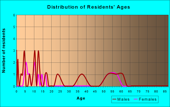 Age and Sex of Residents in zip code 79033