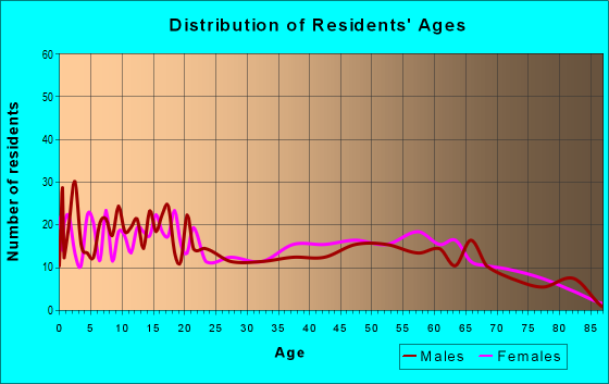 Age and Sex of Residents in zip code 79855