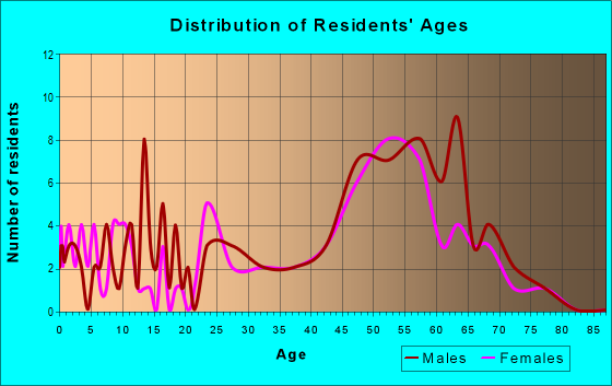 Age and Sex of Residents in zip code 80860