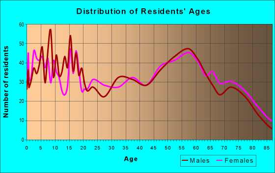 Age and Sex of Residents in zip code 81067