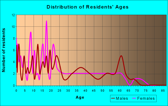Age and Sex of Residents in zip code 82510