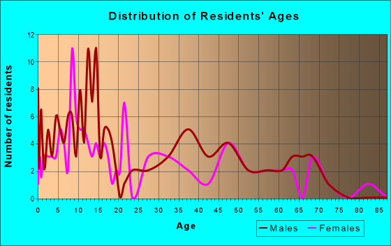 Age and Sex of Residents in zip code 84739