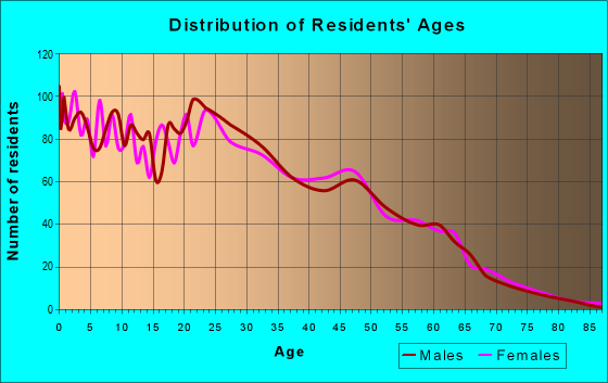 Age and Sex of Residents in zip code 85307