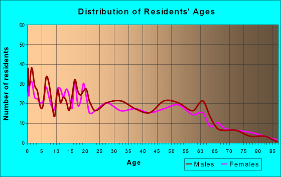 Age and Sex of Residents in zip code 85337