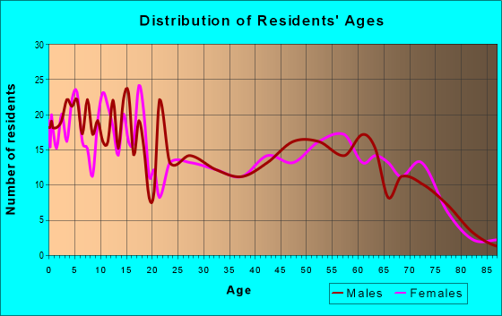 Age and Sex of Residents in zip code 85938