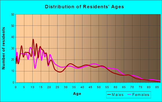 Age and Sex of Residents in zip code 86538