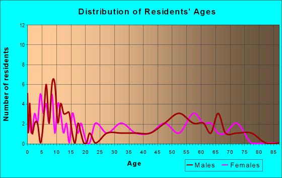 Age and Sex of Residents in zip code 87063