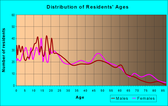 Age and Sex of Residents in zip code 87375