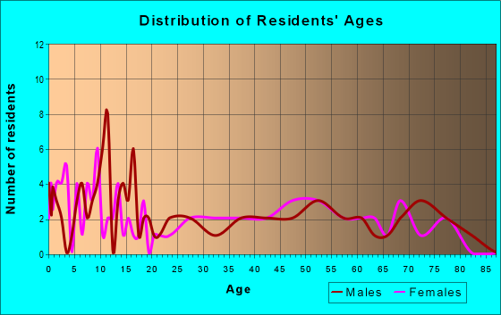 Age and Sex of Residents in zip code 87728