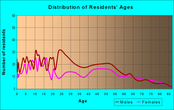 Age and Sex of Residents in zip code 88232