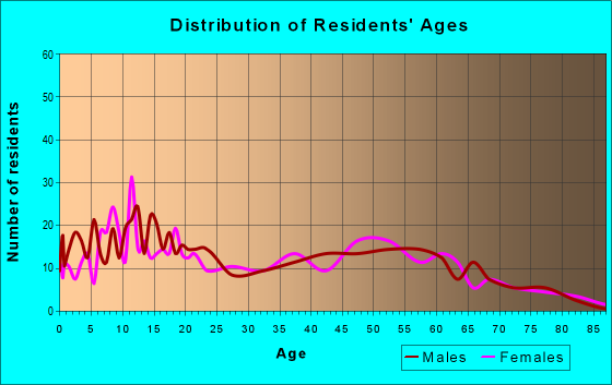 Age and Sex of Residents in zip code 88256