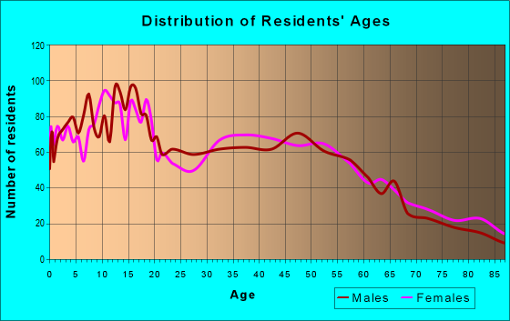 Age and Sex of Residents in zip code 95326