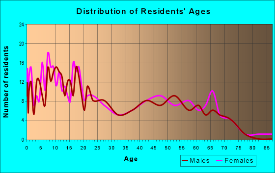 Age and Sex of Residents in zip code 96729