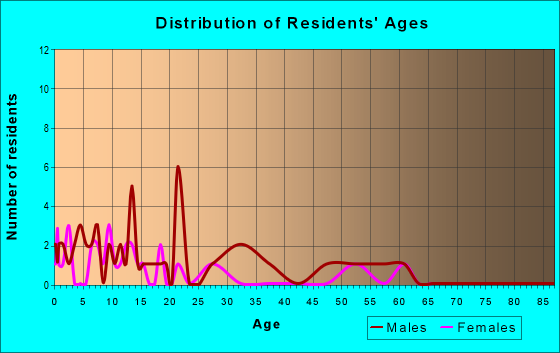 Age and Sex of Residents in zip code 99781