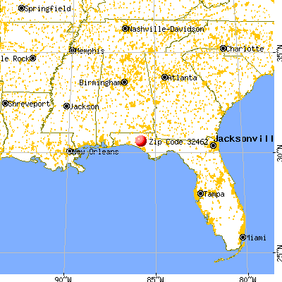 Vernon, FL (32462) map from a distance