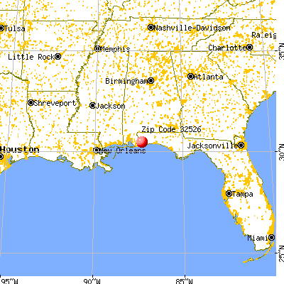 Bellview, FL (32526) map from a distance