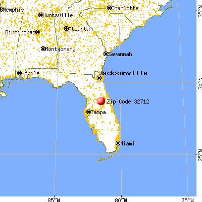 Apopka, FL (32712) map from a distance