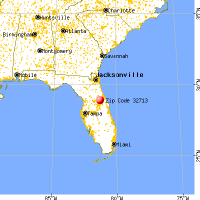 De Bary, FL (32713) map from a distance
