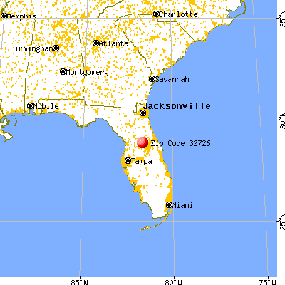 Eustis, FL (32726) map from a distance