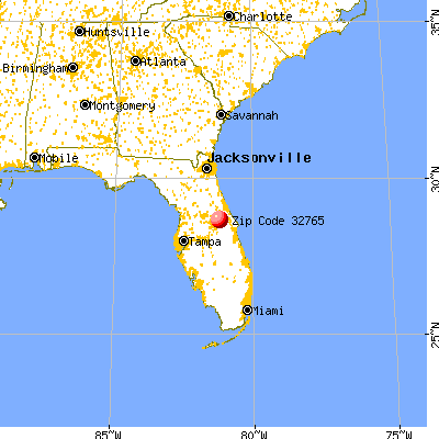 Oviedo, FL (32765) map from a distance