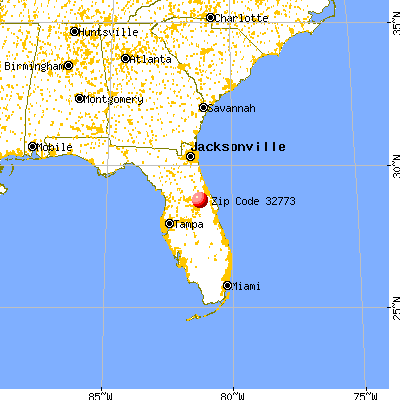 Sanford, FL (32773) map from a distance