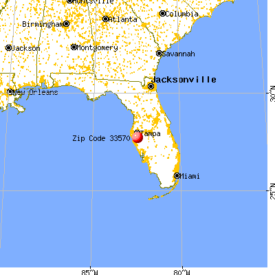 Ruskin, FL (33570) map from a distance